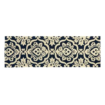 "22""x72"" Royal Damask Hooked All-Weather Runner Rug"