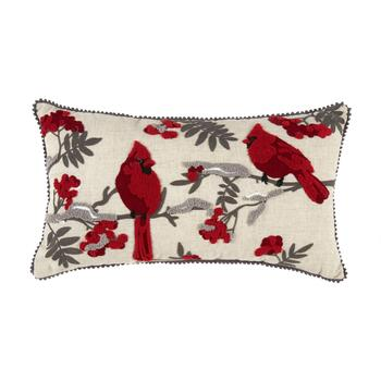 Cardinal Couple Oblong Throw Pillow