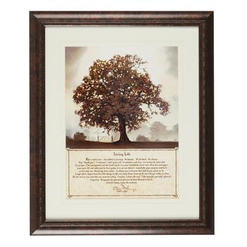"20""x24"" ""Living Life"" Tree Framed Wall Decor"