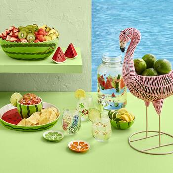 Crab, Flamingo and Fruits Summer Entertaining Collection