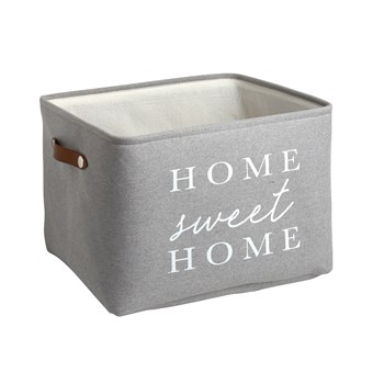 "The Grainhouse™ Gray ""Home Sweet Home"" Storage Basket view 1"