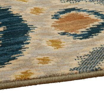 3'x5' Mohawk Home Blue/Beige Ogee Wool Accent Rug view 2
