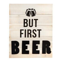 "16""x20"" ""But First Beer"" Wood Plank Wall Decor view 1"