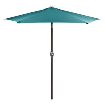 7.5' Teal Crank/Tilt Market Patio Umbrella