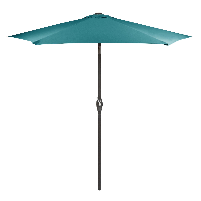Delicieux 7.5u0027 Teal Crank/Tilt Market Patio Umbrella