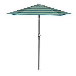 7.5' Blue/Lime/Green Market Patio Umbrella