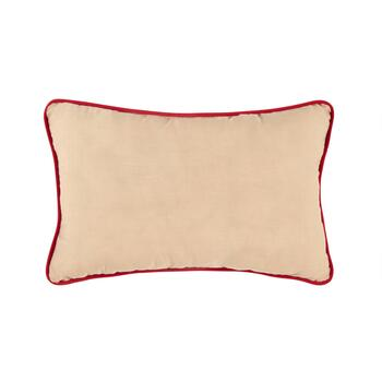 Merry Christmas Oblong Throw Pillow view 2
