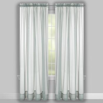 Voile Sheer Rod Pocket Window Curtains, Set of 2 view 2