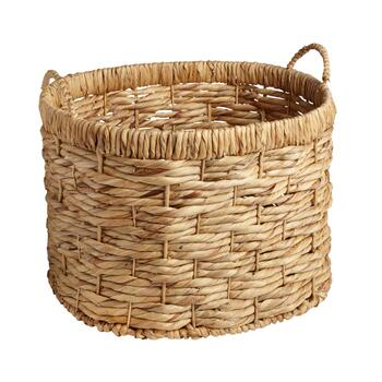 Water Hyacinth Oval Woven Basket