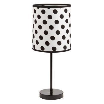 17 5 Black And White Polka Dot Stick Lamp