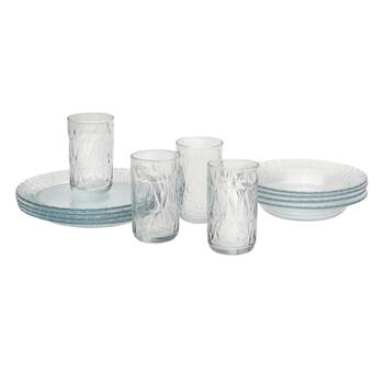 Crisa® Imperial Glass Dinnerware Set, 12-Piece