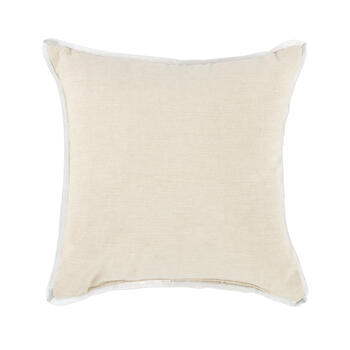 Beaded Silver Monogram Square Throw Pillow view 2