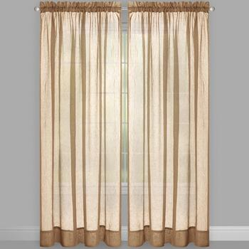 Crushed Voile Rod Pocket Window Curtains, Set of 2 view 2