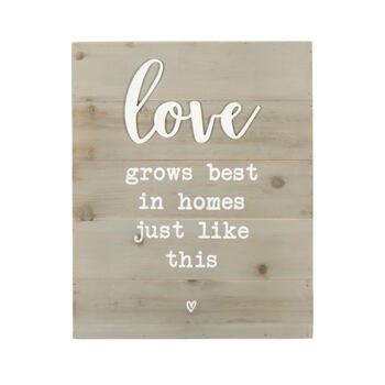 "16""x20"" ""Love Grows Best"" Wood Box Wall Decor view 1"