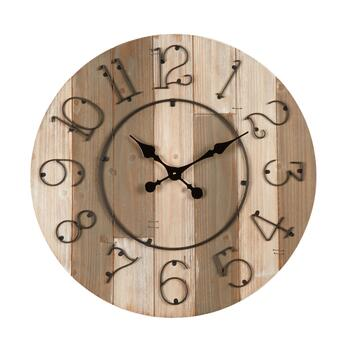 "28"" Wood Panel Round Wall Clock"