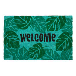 """Welcome"" Palm Leaves Coir Door Mat view 1"