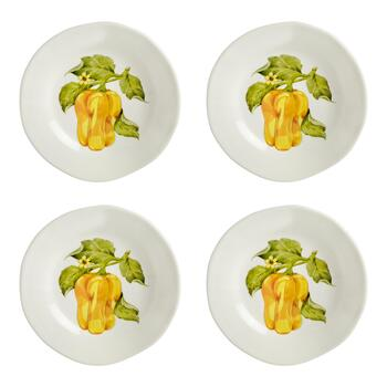 "8.75"" Veggie Side Plates, Set of 4"
