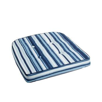 Coastal Living Seascapes™ Stripe Indoor/Outdoor Tufted Seat Pad