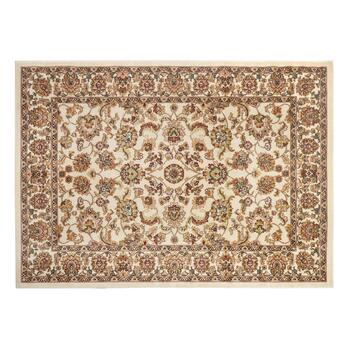 "7'6""x9'10"" Traditional Ivory Floral Printed Olefin Area Rug"