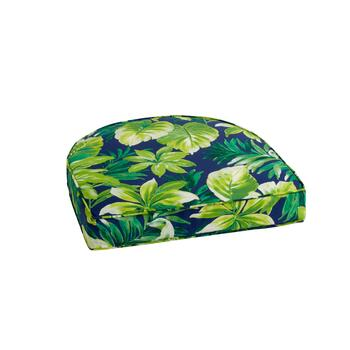 Palm Leaves Indoor/Outdoor Gusseted Seat Pad