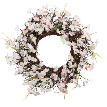 19 White Pink Forsythia And Dogwood Wreath Christmas Tree Shops