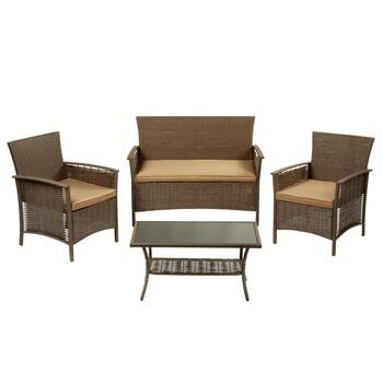 Melrose 4-Piece Resin Patio Set
