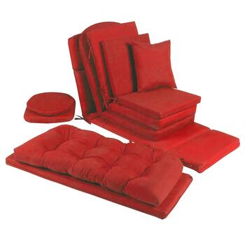 Solid Red Indoor/Outdoor Chair Pads Collection