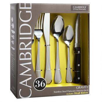 Cambridge® Gravity Stainless Steel Flatware Set, 36-Piece view 2