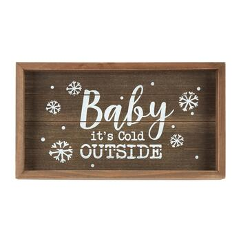 "8""x14"" ""Baby It's Cold Outside"" Wood Wall Decor"