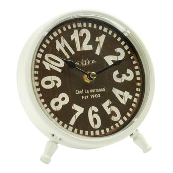 "White ""Chef Le Normand"" Round Table Clock"