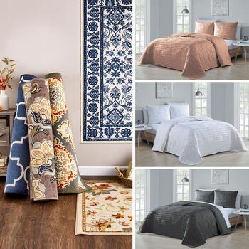 Spain Quilt Sets and Room Size Rugs