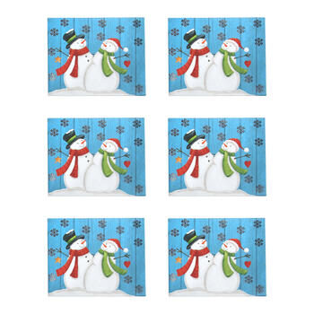 Snowflakes and Snowmen Tab Box Gift Card Holders, Set of 6 view 1