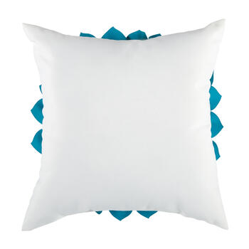 Blue/White Flower 3D Indoor/Outdoor Square Throw Pillow view 2