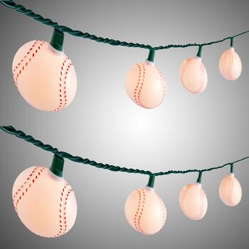 9.5' Softball String Lights, Set of 2