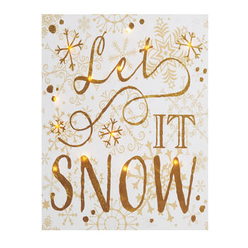 "11""x14"" ""Let It Snow"" LED Canvas Wall Art view 1"