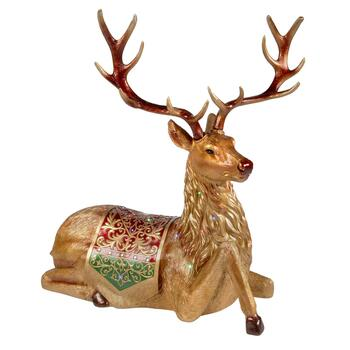 "48.5"" Indoor/Outdoor Musical Reindeer with LED Lights"