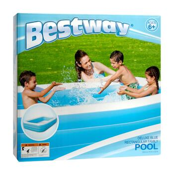 Deluxe Rectangular Inflatable Family Pool view 2