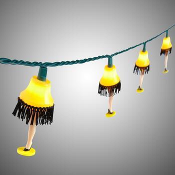 10.5' A Christmas Story™ Leg Lamp String Lights - Christmas Tree ...