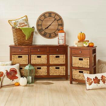 Basket Storage Furniture & Pillows