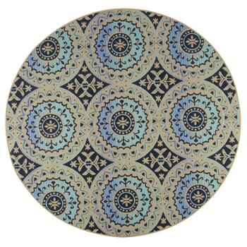 Large Medallion Pattern All-Weather Area Rug view 2 view 3