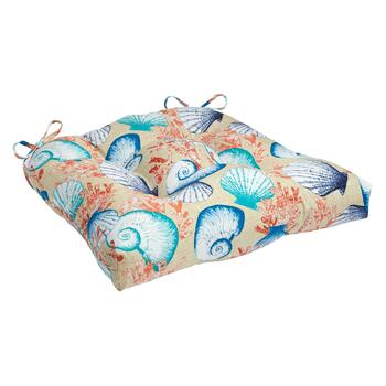 Seashells Indoor/Outdoor Single-U Seat Pad