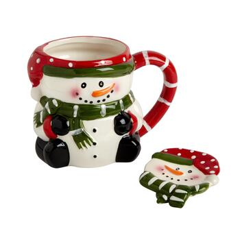 Buddy Snowman Mug and Spoon Plate Set, 2-Piece