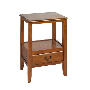 Anne Light Brown 1-Drawer End Table