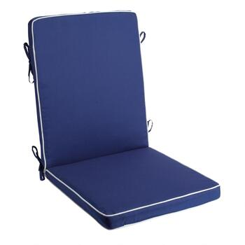 Vera® Dark Blue Indoor/Outdoor Hinged Chair Pad
