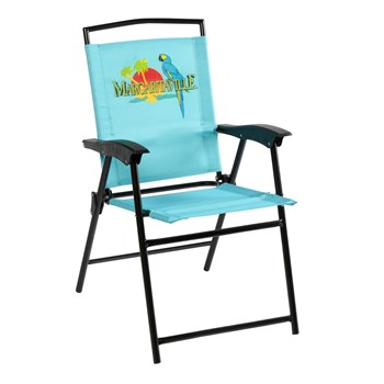 Stupendous Margaritaville Folding Sling Patio Chair Gmtry Best Dining Table And Chair Ideas Images Gmtryco