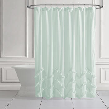 The Grainhouse™ Ruffle Trim Shower Curtain view 1