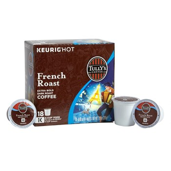 Tully's Coffee® French Roast Coffee Pods, 4 Boxes