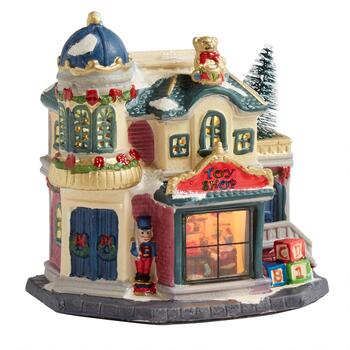 "6.75"" Toy Shop Miniature Lighted Home"