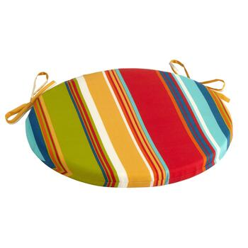 Fiesta Stripe Indoor/Outdoor Round Bistro Seat Pad