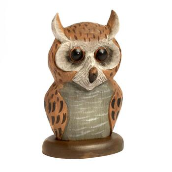 "6"" Decorative Owl Eye Glass Holder"